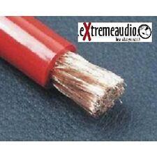 Strom Kabel 10,00 mm² rot-transparent Powerkabel Hochwertiges Strom-Massekabel