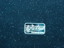 MUSIC NOTES 1 GRAM .999 PURE SILVER BAR ROUND COIN PLAYING MY SONG MUSICIAN GIFT