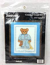 Janlynn Counted Cross Stitch Kit Sweet Dreams Bear 82-03 Jeanne Mack 1989 NEW