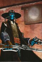 "Cad Bane and Boba 5x7/"" Art Prints Star Wars Bounty Hunters The Clone Wars Embo"