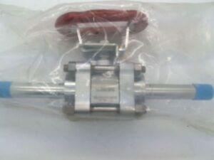 Swagelok SS-P65VATW12-3-SK-RD, 3/4 Butt Weld Ball Valve