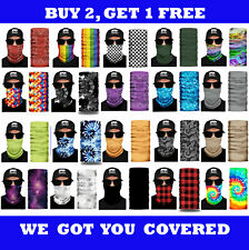 Face Mask Neck Gaiter Bandana Scarf Tube Washable Reusable Cover Shield Headband