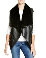 NWT $78 Blank NYC Black Faux Shearling Women's Vest size MEDIUM M