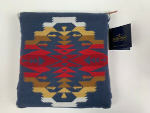 Pendleton Travel Set Tuscon Sunset Plaid Throw Blanket Eye Mask And Pouch NEW
