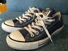 Womens Navy Converse Low Tops Size 5