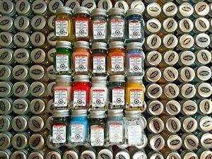 Testors Enamel Model Paint Set - FLAT COLOR PAINT SET - 20 BOTTLES - NEW & FRESH