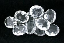 Two 10x8 10mm x 8mm Oval Natural Crystal Quartz Gemstone Gem Stone EBS8077