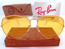 VTG MINT B&L RAY BAN USA AMBERMATIC AVIATOR II LARGE 62mm CHANGEABLES CASE NOS