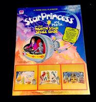 Vintage 1979 Star Princess And Pluta Science Fiction Original Uncut Paper Dolls