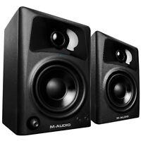 M-Audio AV32 Studio Monitor & Multimedia Desktop Music Production Speakers Pair