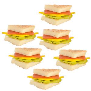 Dollhouse Miniature Sandwiches Set of 6