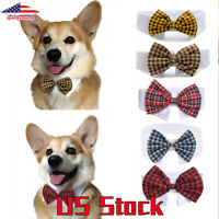 Dog Puppy Cat Pet Toy Bow Ties Bowknot Adjustable Necktie Collar Cute Decoration