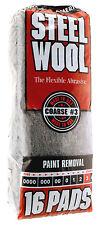 Case Rhodes American Steel Wool Grade 3 - Coarse ~ 6 bags of 16 steel wool pads