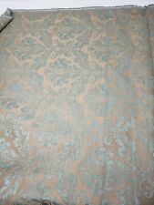 Vintage Woven Damask Brocade Victorian Floral Decor 5+ yds Fabric Blue Quality