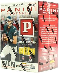 2018 Panini NFL Football card 11-Pack Box brand new. Auto's. WOW