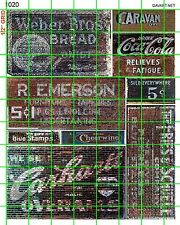 1020 DAVE'S DECALS BREAD COLA OLD FADED BUILDING GHOST SIGNS ADVERTISEMENTS MIX