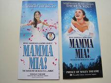2x theatre flyer MAMMA MIA The Musical Abba music