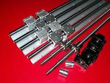 SBR20-1400mm 4 linear rail+ballscrew RM1605-1385mm+3 set FK/FF12 end bearing CNC