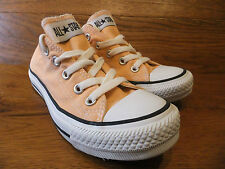 Converse CT All Star Orange Canvas Trainers Plimsolls Size UK 3 EUR 35