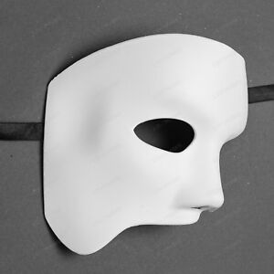Classic Mens Phantom of the Opera Costume Mask Masquerade Cosplay Party - White