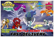 Pokemon Sword Shield ⚔️ ALL 93 LEGENDARY FROM CROWN ✨ SHINY✨ HOME FAST DELIVERY