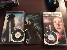 Crisis Core Final Fantasy VII & Spirits Within Movie- Sony PSP -Complete- Tested