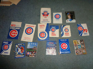 CHICAGO CUBS BASEBALL SCHEDULE COLLECTION, 1973 ON