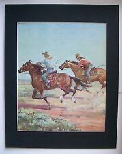 Quarter Horse Print Wesley Dennis Marguerite Henry Bookplate 1951 11x14 Matted