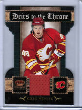 11/12 CROWN ROYALE GREG NEMISZ 25 HEIRS TO THE THRONE JERSEY CARD CALGARY FLAMES