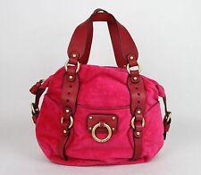 Juicy Couture Croc-Embossed Velour Hot Pink Satchel Bag YHRU1826 949