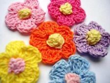 """50 Hand Crochet Daisy 1"""" Flower/Trim/Sewing/Bow/knit/yarn/craft/Black C6-Grey"""