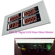 Zeit Watt Voltmeter Amperemeter Leistungsregler Zähler Digital 100A LED Spannung