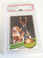 1979 Topps Julius Erving #20 Philadelphia 76ers NBA Basketball HOF PSA 7