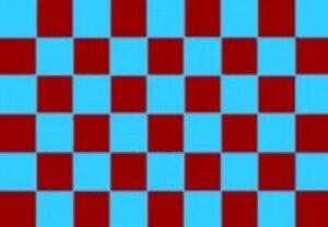 Claret and Sky Blue Checkered Check 5'x3' Flag WEST HAM BURNLEY ASTON VILLA HAMM