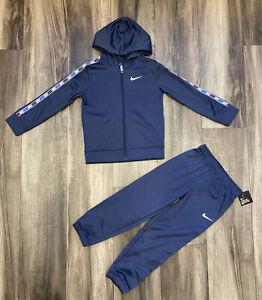 Nike Boys Track Suit Athletic Pants Hoodie Sweatshirt Navy Blue Size 7