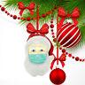 2020 Santa mit Maske Glas Christbaumschmuck Weihnachtskugeln Figuren Winterdeko