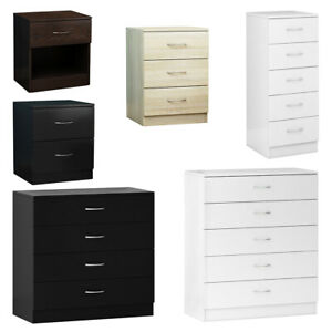 Modern Chest of Drawers Bedside Cabinet Nightstand 1 2 3 4 5 Drawer Bedroom