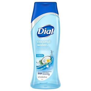 3 Pack of  Dial Coconut Water Hydrating Body Wash, 473 ml/each
