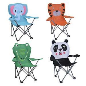Kids Camping Folding Deck Chair Animal Design in Elephant/Panda/Tiger/Crocodile