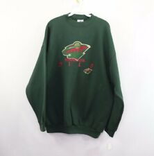 New Vintage Logo Athletic Mens XL Minnesota Wild NHL Hockey Spell Out Sweatshirt