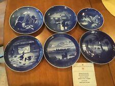 6 Plates Royal Copenhagen 1968, 69, 72, + B&G 1971, 73 Christmas, 71 Mothersday