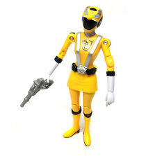 """Power Rangers RPM YELLOW Female Ranger 5"""" toy figure with weapon"""