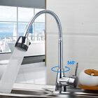 Robinet Mitigeur Pivotant 360° Laiton Chrome Lavabo pour Cuisine Salle de Bain
