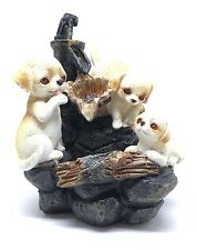 Puppies Water Feature - Puppy Dogs Tranquil Zen Indoor Cascading Fountain