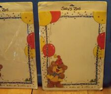 "Suzy's Little Suzy Zoo Stationery - 17 Sheets  & 17 Envelopes ~ Bear ~ 8.5x11"""