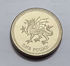 1995 BRILLIANT UNCIRCULATED ONE POUND COIN, THE WELSH DRAGON VERSION £1 COIN.