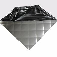 "304 Quilted Brushed Stainless Steel Sheet (24 ga.) .024"" x 24"" x 48"" Backsplash"