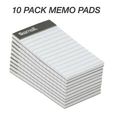 Mini Pocket Notebook Pack Of 10 Memo Books Notes Tasks Time Orders Writing Pads