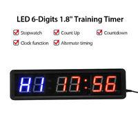 Digital Clock Stopwatch 6 Digit LED Seven Segment Display 12VDC MXA070