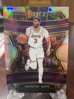 2019-20 Panini Select Basketball Anthony Davis Silver Prizm Concourse #26